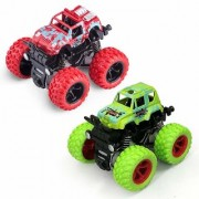 New Pinch Crazy Unbreakable Monster Trucks Friction Powered Cars for Kids Spin 360 Degree (random color) pack of 2