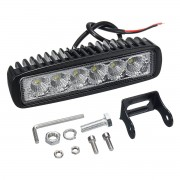 Meco 12V 18W 6LED Waterproof LED Headlights Flood Work Light Motorcycle Truck Boat Camping Lamp
