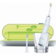 Periuta de dinti electrica Philips Sonicare DiamondClean HX933204 31000 miscari de curatare-minut 5 moduri 2 capete Alb