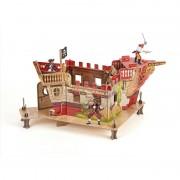 Figurina Papo - Set fort pirati carton+3 figurine