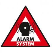 Waarschuwingssticker alarmsysteem