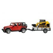 Jeep Wrangler Unlimited Rubicon cu Remorca & Mini-Incarcator CAT