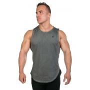 Jed North Luxe Flex Vintage Washed Muscle Top T Shirt Grey TANK008