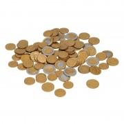 Merkloos Speelgeld euro munten 100 stuks