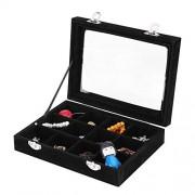 Duevin Caja de joyería, Caja de la joyería, Organizador del sostenedor de la joyería 12 Ranuras