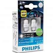 2 Ampoules T10 Philips X-treme Vision LED 4000K CeraLight - W5W