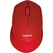 Mouse Wireless Logitech M330 Plus Silent USB 1000dpi Red
