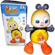 OH BABY Electric HAPPY Bee IN THIS 3D LIGHT MUSICAL POWER WITH AUTOMATIC SENSOR YELLOW COLOR HAPPY BEE FOR YOUR KIDS SE-ET-11