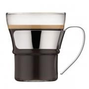 Bodum ASSAM Set 2 bicchieri tè, con manico in acciaio inox, 0.3 l Brillante