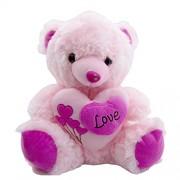 teddy bear for girls Pink Teddy -Huggable Teddy Bear with Sweet Massage - Love for Girlfriend/Birthday Gift/Boy/Girl ( pink, 38 cm)