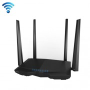 Tenda AC6 AC1200 Smart Dual-Band Wireless Router 5GHz 867Mbps + 2.4GHz 300Mbps WiFi Router with 4*5dBi External Antennas(Black)
