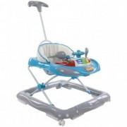 Premergator copii Sun Baby cu control parental Super Car Albastru si Gri