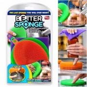 Szilikon antibakteriális edénymosó szivacs BETTER SPONGE 3db
