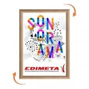 Edimeta Cadre Clic-Clac B2 70 x 50 cm BOIS HETRE
