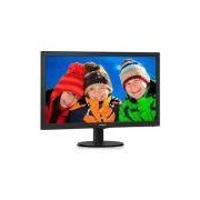Monitor Led Philips 23.6 Polegadas Hdmi Speaker 243v5qhab Bivolt