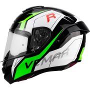 Vemar Hurricane Revenge Helmet Black White Green 2XL