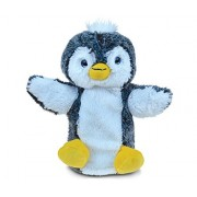 Puzzled Penguin Super-Soft Stuffed Plush Puppet Cuddly Animal Toy - Animals / Birds/ Ocean Theme - 9 INCH - Unique huggable loveable New friend Gift - Item #5797