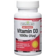 Nature's Aid D Vitamin D3 tabletta 1000 IU 120db