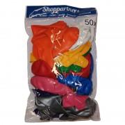 Shoppartners Feest ballonnen gekleurd 50x