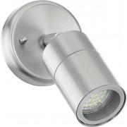 Lampă de perete de exterior, 5 W, GU10, oţel inoxidabil, EGLO Stockholm 1