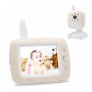 Baby Monitor Audio - Video pentru bebelusi, model 2018, TI-GMCAM 35Q, WI-FI 2,4Ghz, Talk-Back, Activare Vocala, Cantece Leagan incorporate