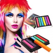 ELECTROPRIME 8350 6-Color Hair Chalk Temporary Soft Health Coloration Kit Professional Tool