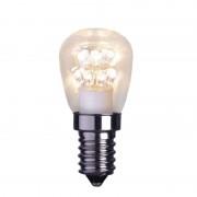 E14 0.7 W LED bulb, clear, 2,100 K