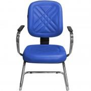 Cadeira para Recepção e Igreja Fixa Diretor Azul - Pethiflex