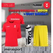Pachet hummel, tricou Romania + bidon + sort barbati galben S S
