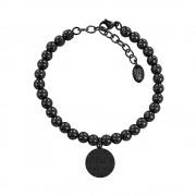 CO88 Armband 'Elemental' staal/zwart 17-22 cm 8CB-14021