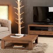 Dpi Table basse sous plateau Cokko marron - D.92xH.34 cm