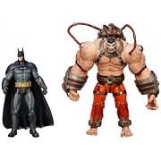 DC Collectibles Batman Arkham Asylum Batman Vs Bane Action Figure (Pack of 2), Multi Color