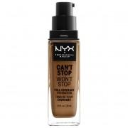 NYX Professional Makeup Base de maquillaje Can't Stop Won't Stop 24 Hour de NYX Professional Makeup (varios tonos) - Almond