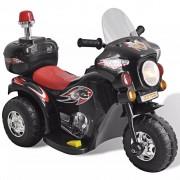 vidaXL Detská motorka napájaná batériou (Čierna)