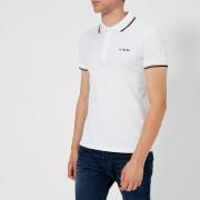 Diesel Men's Randy Broken Polo Shirt - White - S - White