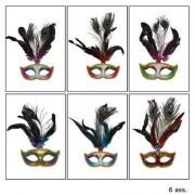 Masca ochi cu pana culori diferite - Cod 61675