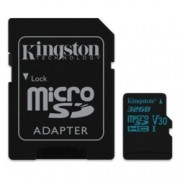 32GB microSDHC, с SD Adapter, Kingston SDCG2/32GB, Class 10 UHS-I V30, скорост на четене 90 MB/sec, скорост на запис 45 MB/sec