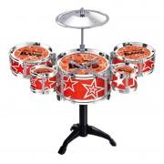 Set tobe pentru copii Jazz Drum, scaun inclus, 3 ani+