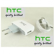 Htc Tc-P450 Travel Adapter+DC-410 Data Cable Fr Htc AriaDesireDesire ZDroid incredibleEvo 4GMytouch 3G SlideG2HD2