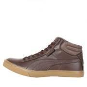 Puma Men's Brown Grip Mid IDP Sneakers