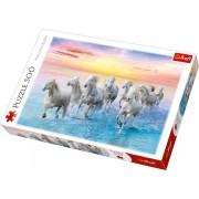 Trefl Pussel - Hästar vid solnedgången 500 Bitar