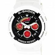 reloj deportivo de cuarzo digital analogico para hombres casio g-shock AW-591SC-7A - blanco