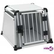 vidaXL Transporter za pse od aluminija L