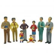 Figurine familie asiatica Miniland, 8 piese