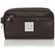 Zen Temple Multi Purpose Toiletry Bag Travel Toiletry Kit(Brown)