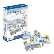 CubicFun Case traditionale din Grecia Puzzle 3D 165 piese