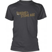 Queens Of The Stone Age Text Logo Metallic T-Shirt L
