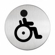 DURABLE · Hunke und Jochheim GmbH & Co. KG DURABLE Picto - WC Behindert Hinweisschild, Hinweisschild aus hochwertigem gebürsteten Edelstahl, 1 Stück