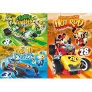 Clementoni 4 Puzzles - Mickey and The Roadster Racers 48 Teile Puzzle Clementoni-25227