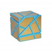 3x3 Ghost Cubo -Azul Cuerpo + Etiqueta Dorada
